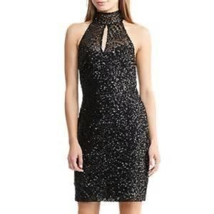 LAUREN RALPH LAUREN SLEEVELESS SEQUIN DRESS